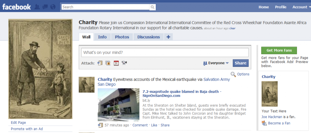 The Charity Community on Facebook