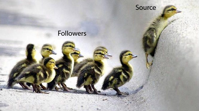 Sources are more valuable than Followers