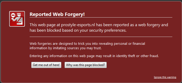 Blocked - Forgery