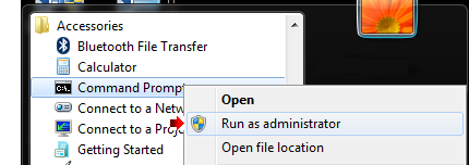 Admin Command Prompt Windows 7