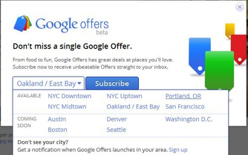 Google Offers Beta Locations