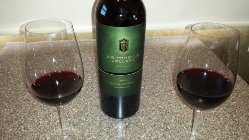 Toasting to 2010 S.R. Tonella Cellars Cab