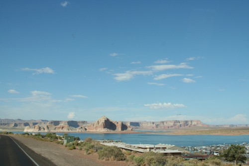 Hello Lake Powell! A view from the road in.