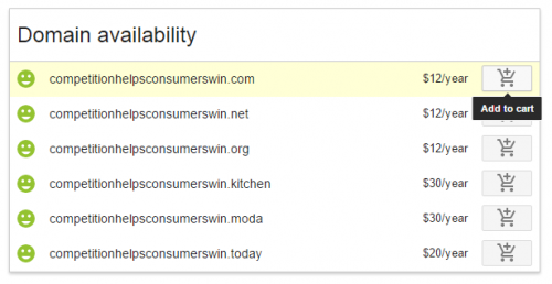 Choose Your Domain Option and Add to Cart