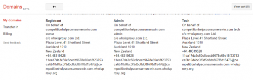 Masked Whois Info