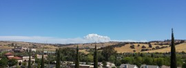 The King Fire on 9/17 from 40 Miles Away